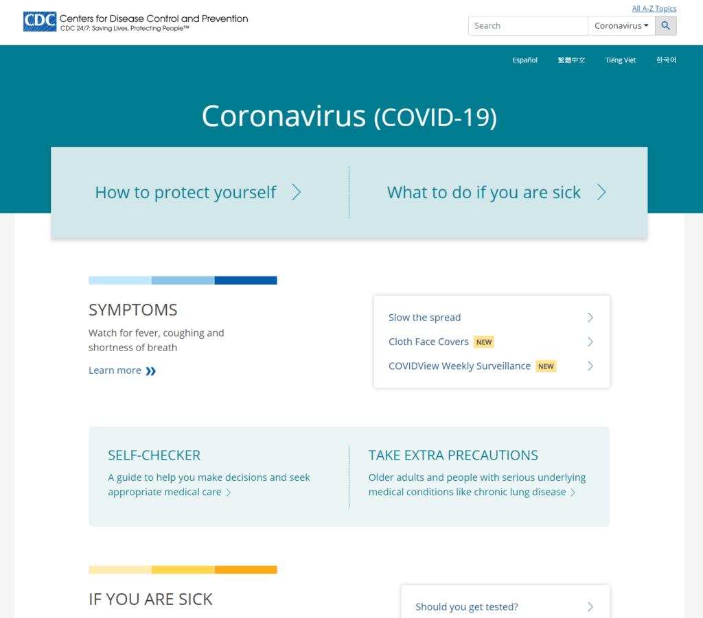 COVID Website